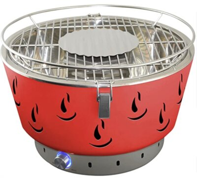 Activa - Migliore barbecue senza fumo per sistema di ventilazione, coperchio e vaschetta
