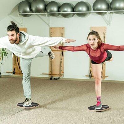 allenamento con balance boards