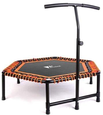amzdeal - Migliore mini trampolino elastico da fitness per sicurezza