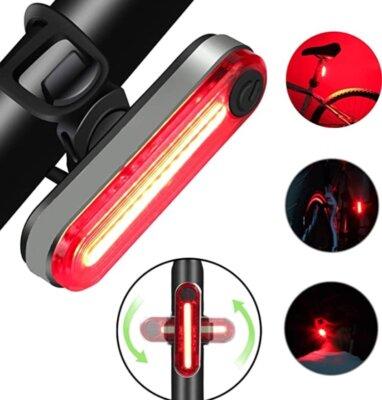Asbter - Migliore luce per bici posteriore per visibilità di 120 gradiAsbter - Migliore luce per bici posteriore per visibilità di 120 gradi