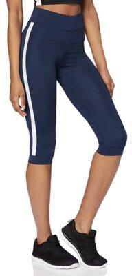 Aurique - Migliori leggings sportivi da donna blu con banda laterale bianca