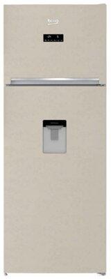 Beko RDNE455E30DBN - Migliore frigorifero Beko doppia porta color sabbia per dispenser di acqua