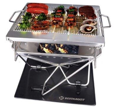 Bestargot - Migliore barbecue da tavolo professionale per design portatile e pieghevole