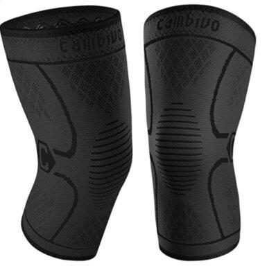 CAMBIVO - Migliori ginocchiere da crossfit per doppia fodera in silicone