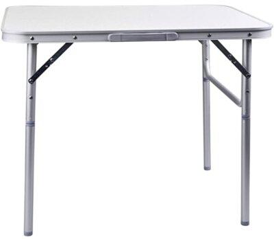 Camp Active - Migliore tavolino pieghevole da campeggio per bordi arrotondati e look marmorizzato
