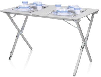 Campart - Migliore tavolino pieghevole da campeggio per alzata avvolgibile in alluminio