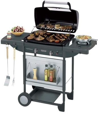 Campingaz - Migliore barbecue da giardino per griglia di cottura in ghisa e superficie in roccia lavica