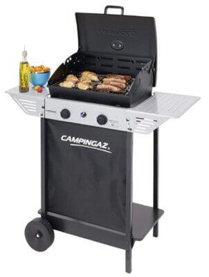 Campingaz Xpert 100 L Plus Rocky - Migliore barbecue Campingaz a gas per bruciatori a cialde in acciaio alluminato e roccia lavica