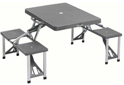 Cao Camping - Migliore tavolino pieghevole da campeggio richiudibile a valigetta con sedute