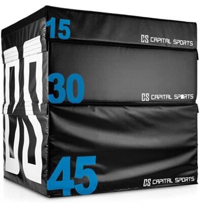 Capital Sports - Migliore jump box in set da 15, 30, 45 cm