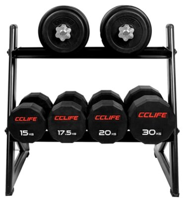 CCLIFE - Migliore rastrelliera per pesi a forma a L