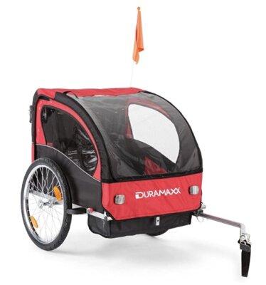 Duramaxx - Migliore rimorchio bici per bambini per ampio scomparto portaborse con cinghie
