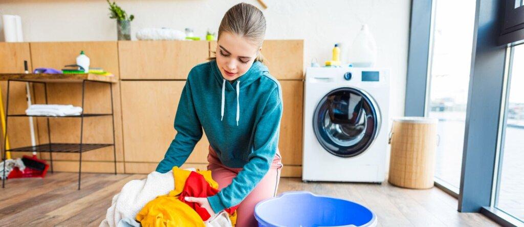 fare il bucato con una lavatrice lg