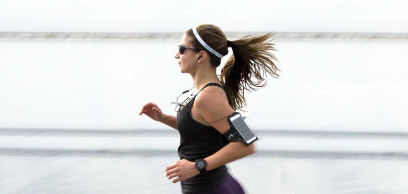 fascia da braccio per running per smartphone