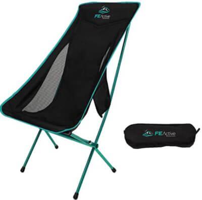FE Active - Migliore sedia pieghevole da campeggio per mancanza elementi in plastica