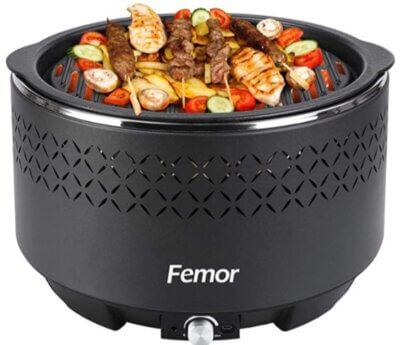 Femor - Migliore barbecue senza fumo per guscio a due strati