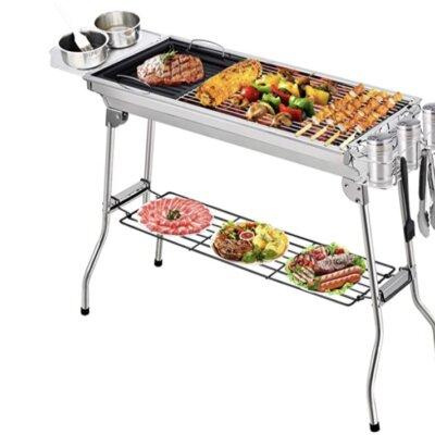 Fixget - Migliore barbecue a carbonella per 10 persone pieghevole