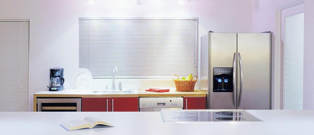 Frigorifero americano side by side in cucina