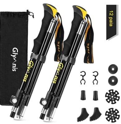 Glymnis - Migliori bastoncini da trekking per punta in carburo di tungsteno