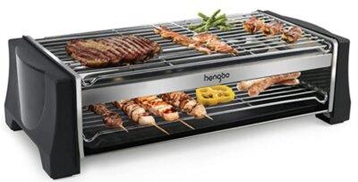 HengBO- Migliore barbecue elettrico per doppia griglia