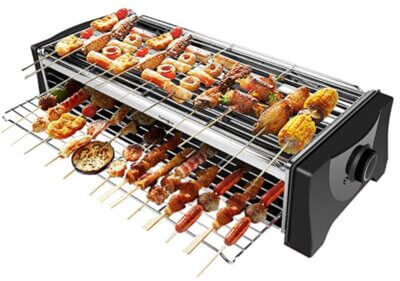 HengBO - Migliore barbecue senza fumo per doppia superficie di cottura