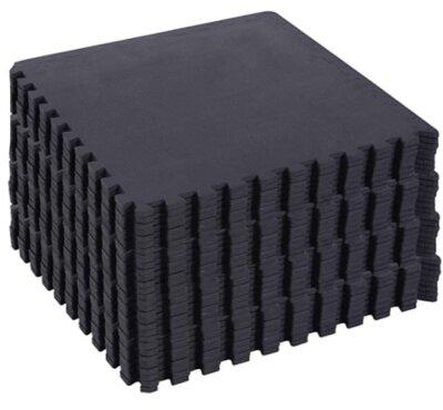 Homcom - Migliore pavimento in gomma per palestra per semplicità di montaggio