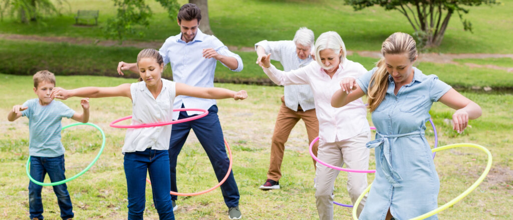 hula hoop per tutta la famiglia