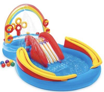 Intex - Migliore playground gonfiabile per bambini con due piscinette, scivolo e giochi