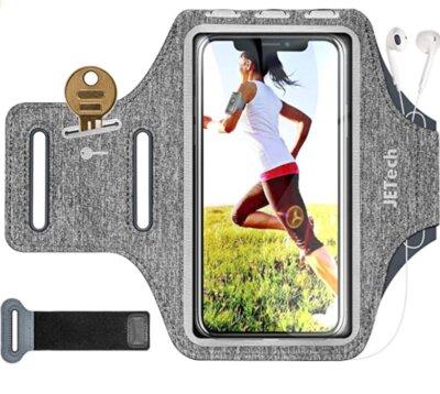 JETech - Migliore fascia da braccio per running per pelli sensibili