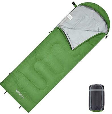 KingCamp - Migliore sacco a pelo singolo per cappuccio regolabile e fondo apribile