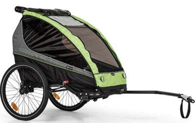 Klarfit - Migliore rimorchio bici per bambini per semplicità e sicurezza