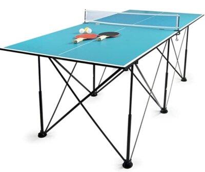 Leomark - Migliore tavolo da ping pong economico per 4 gambe senza ruote