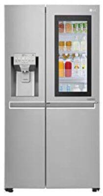 LG GSX960NSAZ - Migliore frigorifero LG side by side americano per colore metallico chiaro