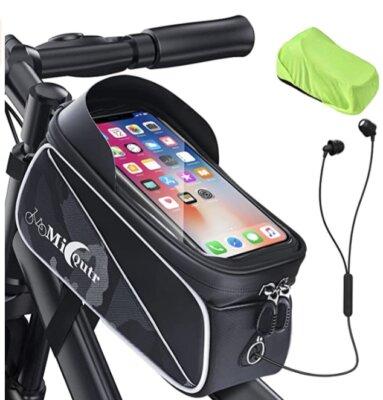 MicQutr - Migliore portaoggetti da bici e borse piccole per doppia cerniera sigillata
