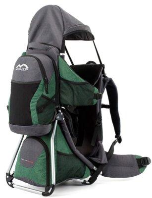 Montis Outdoor - Migliore zaino porta bambino da montagna per presenza di cuscini di seduta e laterali nonché di supporto occipitale