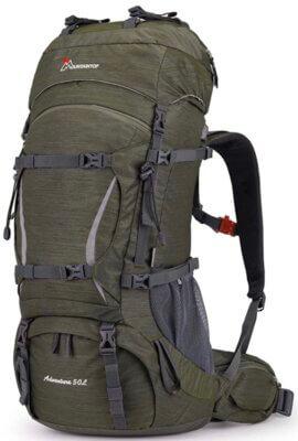 Mountaintop - Migliore zaino da alpinismo per sistema di regolazione dello schienale con chiusura in velcro
