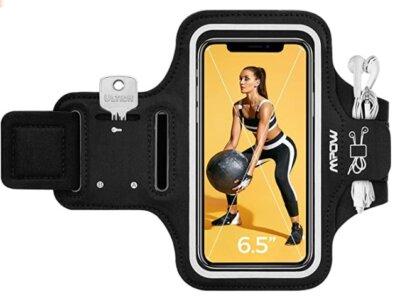 Mpow - Migliore fascia da braccio per running per due modi di indossare