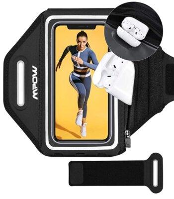 Mpow - Migliore fascia da braccio per running per ridotta area di contatto con la pelle