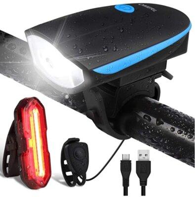 OMERIL - Migliore luce per bici impermeabile e con clacson