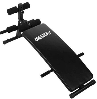 OneTwoFit - Migliore panca per addominali per superficie in acciaio trattata a polvere