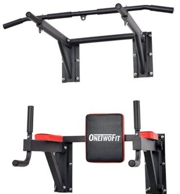 ONETWOFIT - Migliore supporto per sacco da boxe da parete con barra di sollevamento e cuscino