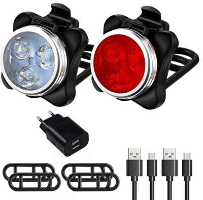 Ozvavzk - Migliore luce per bici per staffe di montaggio in silicone