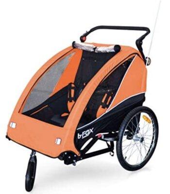 Papillioshop - Migliore rimorchio bici per bambini per struttura in acciaio e rivestimento in Nylon 600D