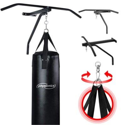 Physionics - Migliore supporto per sacco da boxe per moschettone girevole