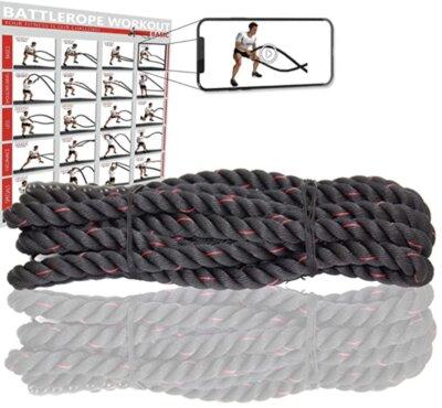 Powrx - Migliore corda battle rope per persone allenate