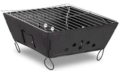 Relaxdays - Migliore barbecue da tavolo economico per design completamente pieghevole