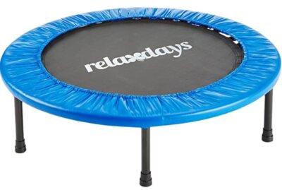 Relaxdays - Migliore mini trampolino elastico da fitness salvaspazio