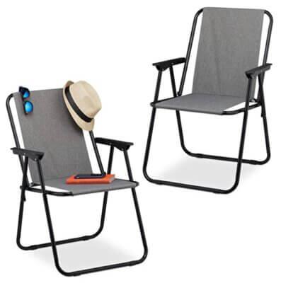Relaxdays - Migliore sedia pieghevole da campeggio in set da due per design moderno