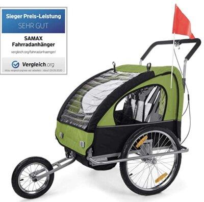 Samax - Migliore rimorchio bici per bambini per resistente telaio in acciaio