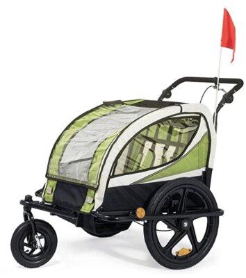 Samax - Migliore rimorchio bici per bambini per ruota anteriore piroettante a 360 gradi